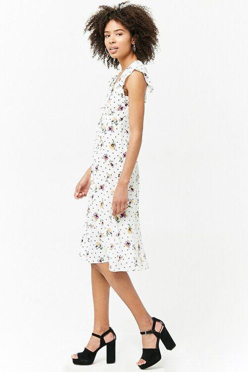 Floral Plunging Dress, image 2