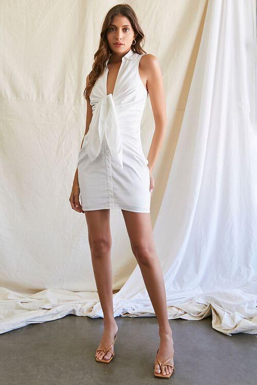 Sleeveless Bow Shirt Dress, image 4