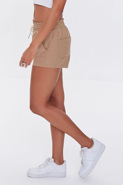 Linen-Blend Drawstring Shorts, image 3