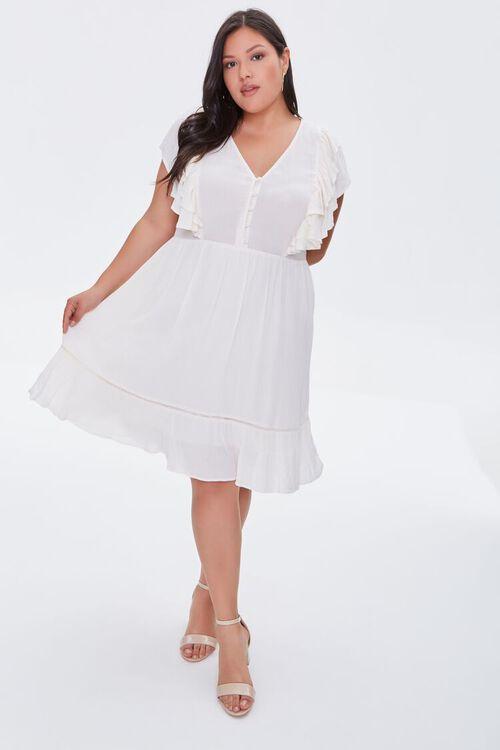 Plus Size Ruffled Mini Dress, image 4