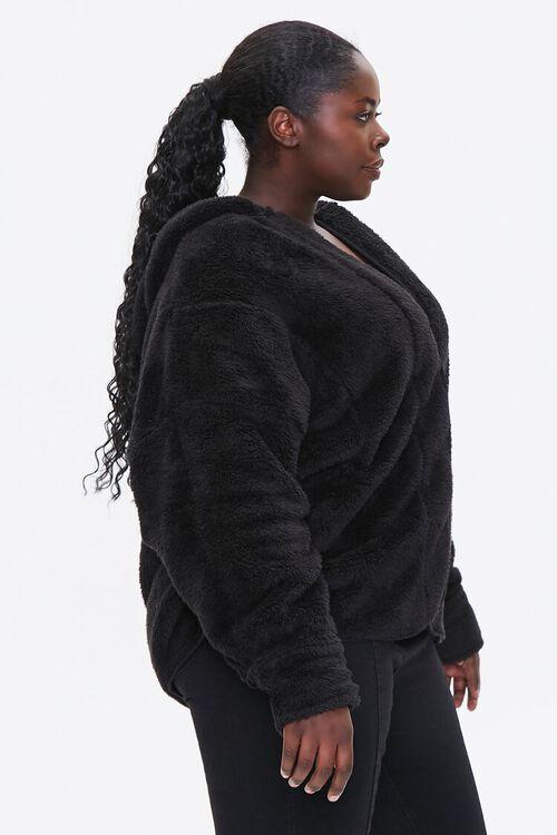 Plus Size Hooded Faux Fur Coat, image 2