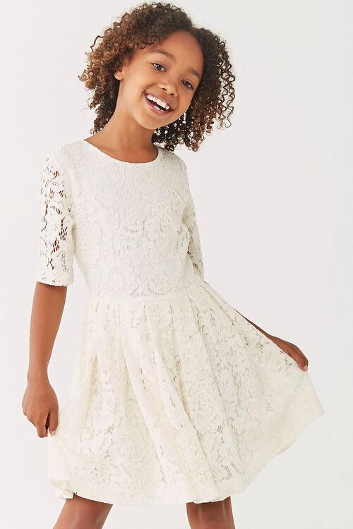 Girls Lace Fit & Flare Dress (Kids), image 1