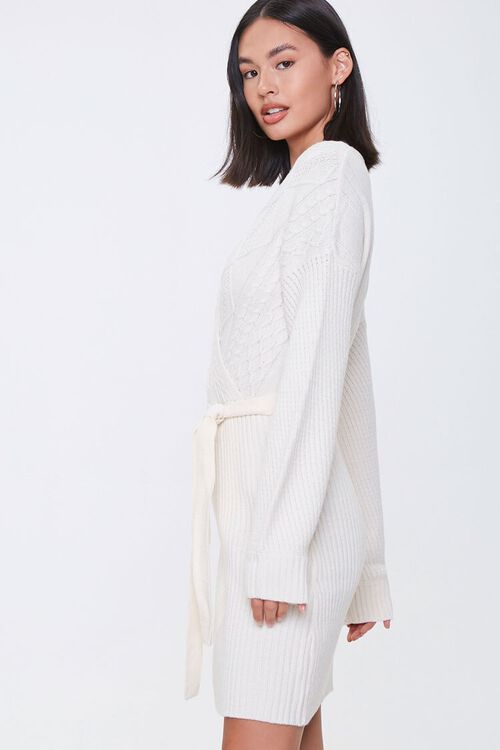 Cable Knit Wrap Dress, image 2
