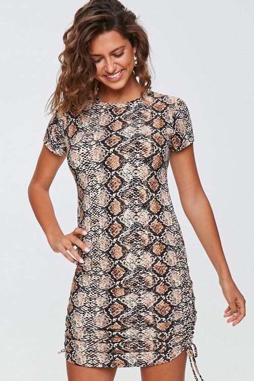 Snake Print Mini Dress, image 1