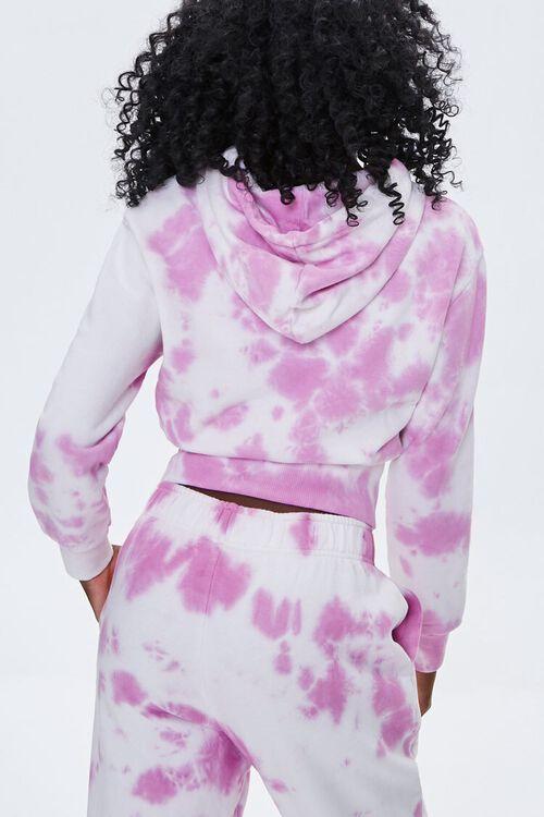 WHITE/PINK Tie-Dye Floral Hoodie, image 4