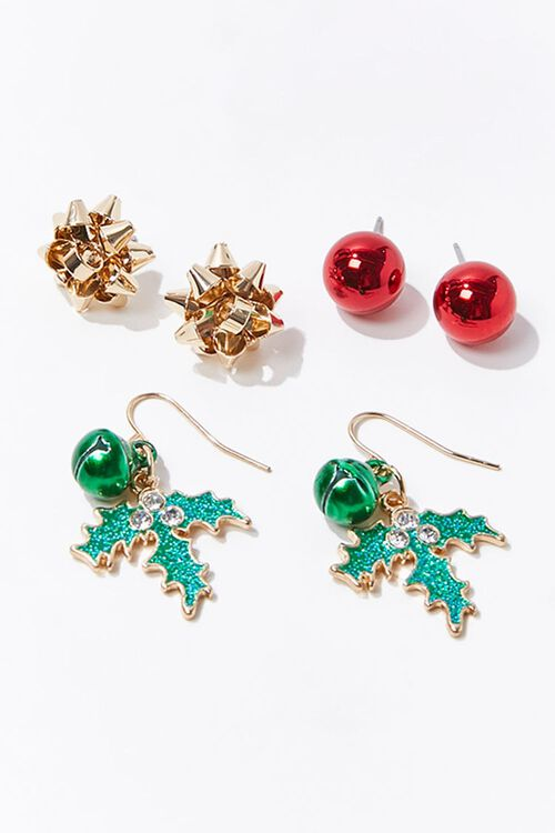 Holiday Stud & Drop Earring Set, image 1