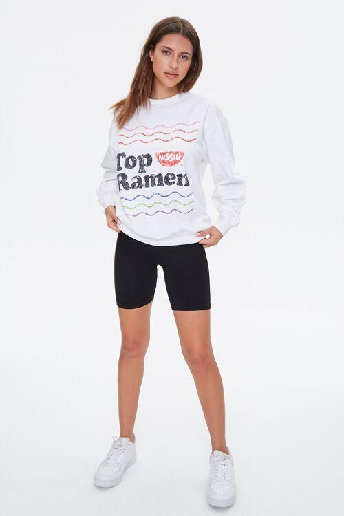 WHITE/MULTI Nissin Top Ramen Graphic Pullover, image 4