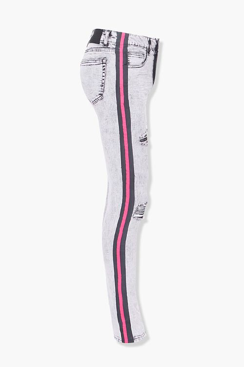 Distressed Side-Striped Skinny Jeans, image 2