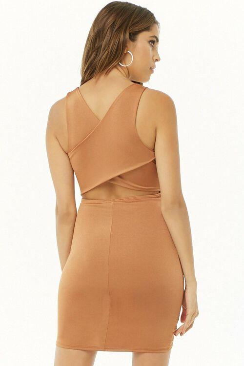 Ruched Surplice Mini Dress, image 3