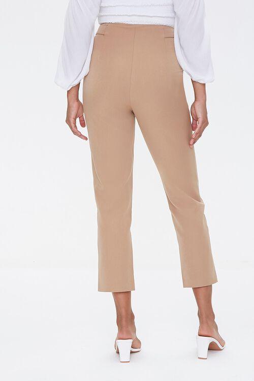 TAUPE Tab-Waist Ankle Pants, image 4