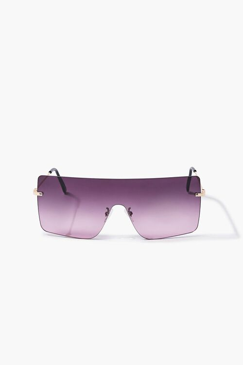 GOLD/PINK Ombre Shield Sunglasses, image 1