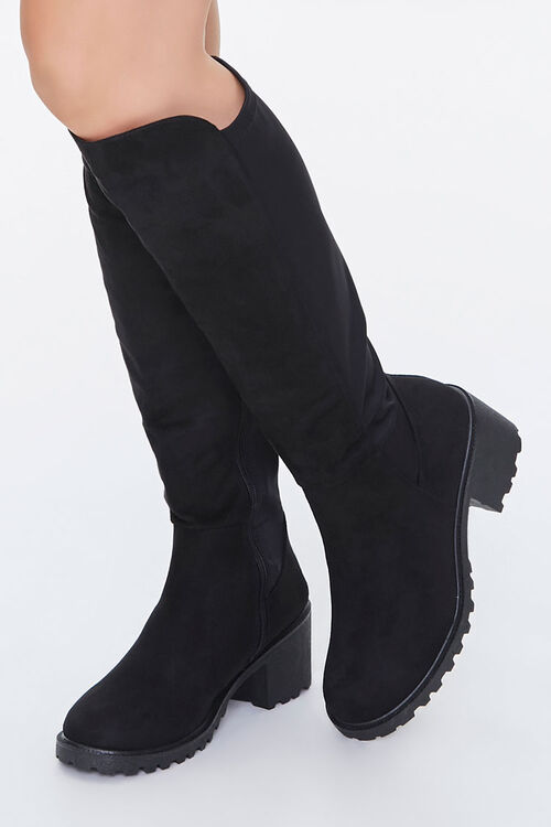 Faux Suede Knee-High Boots, image 1