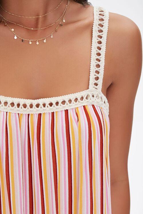 Striped Crochet-Trim Dress, image 5