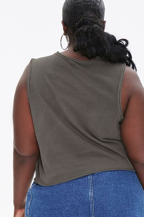 Plus Size Raw-Cut Muscle Tee, image 3