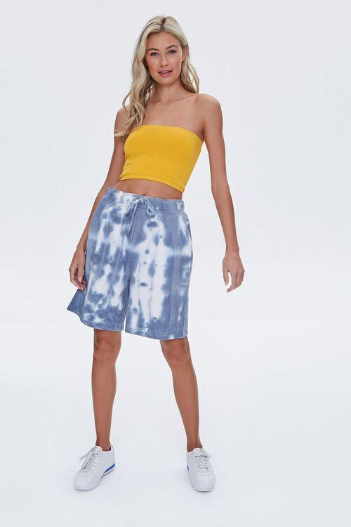 GREY/CREAM Bleached Drawstring Shorts, image 5