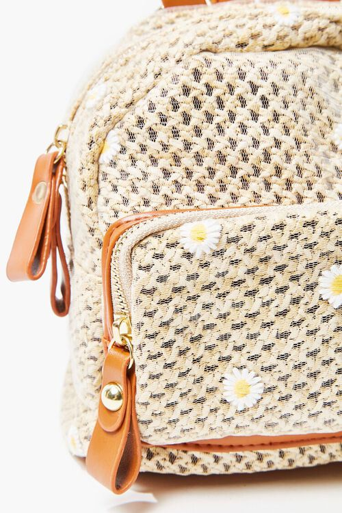 Daisy Charm Basketwoven Backpack, image 4
