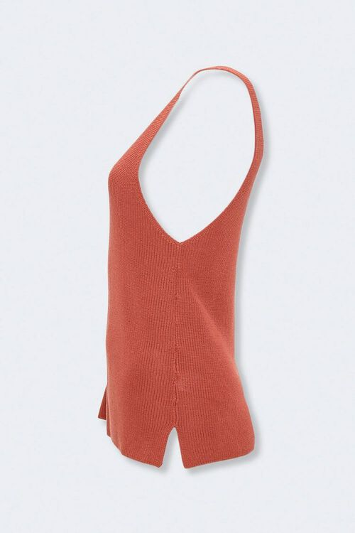 Vented Sweater-Knit Tank Top, image 2