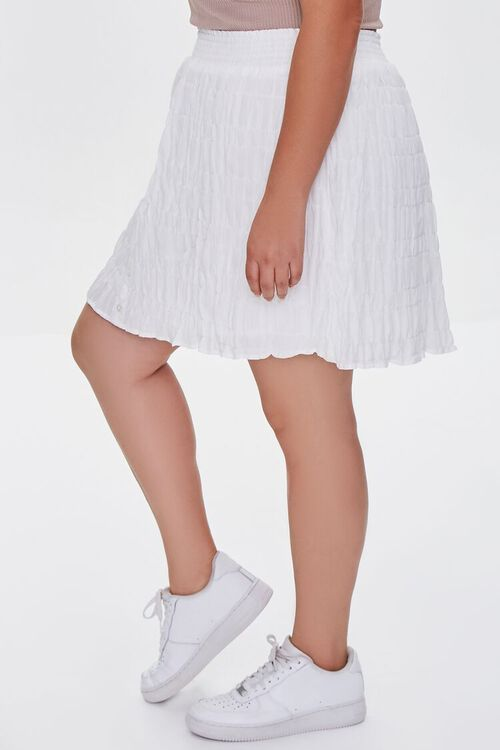 Plus Size Tiered Buttoned Mini Skirt, image 3
