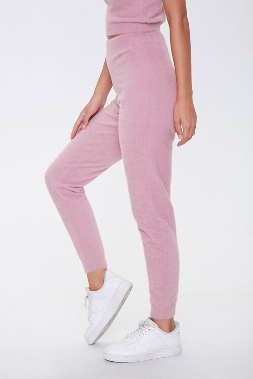 Fuzzy Sweater-Knit Joggers, image 3