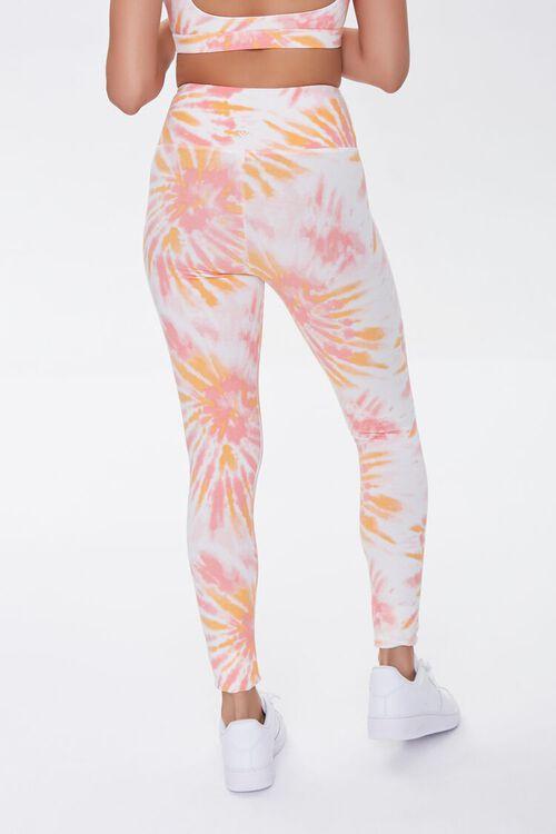 ORANGE/WHITE Active Tie-Dye Leggings, image 4