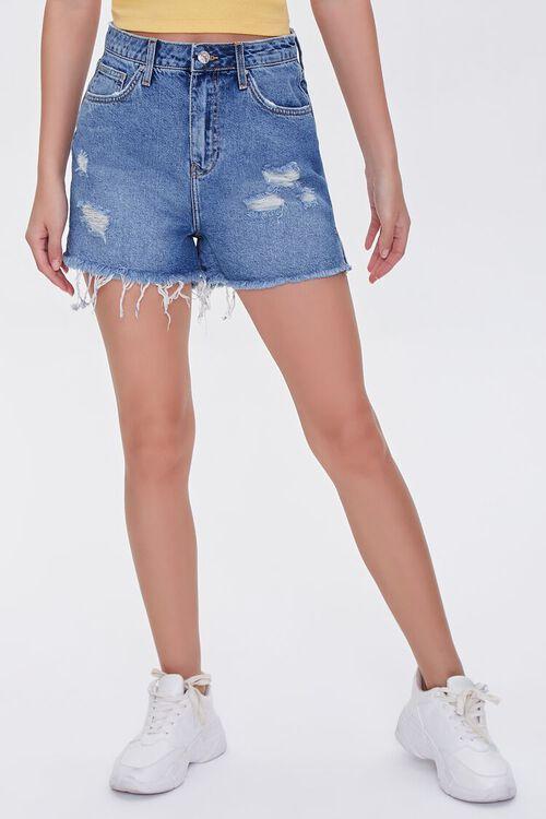 Frayed Denim Shorts, image 2