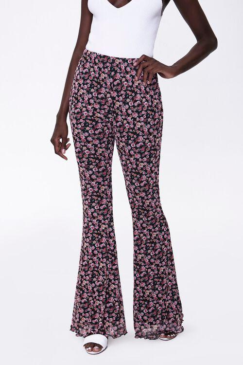 Floral Print Flare Pants, image 2