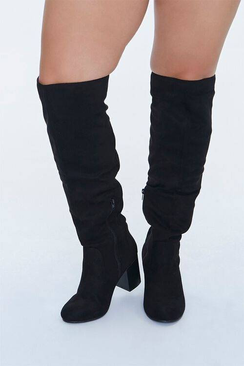 Faux Suede Knee-High Boots (Wide), image 4
