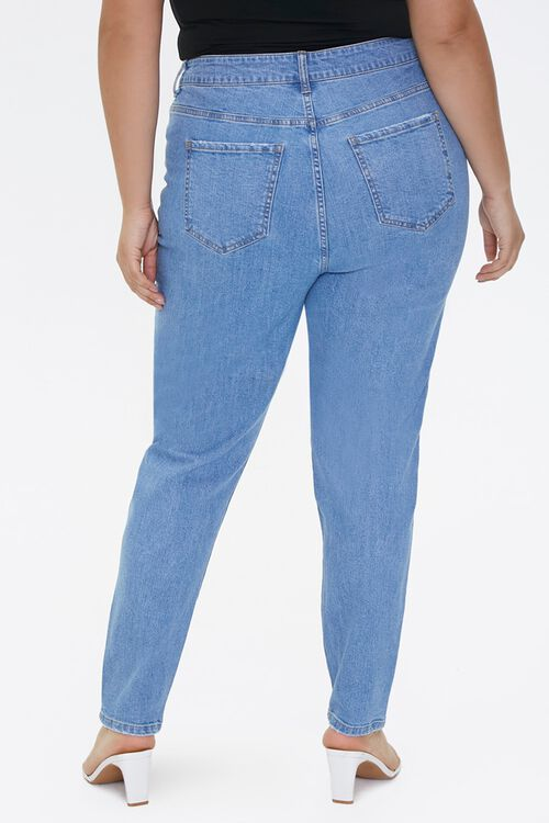 Plus Size Distressed Mom Jeans, image 4