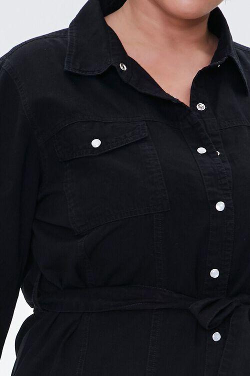 Plus Size Denim Shirt Dress, image 5