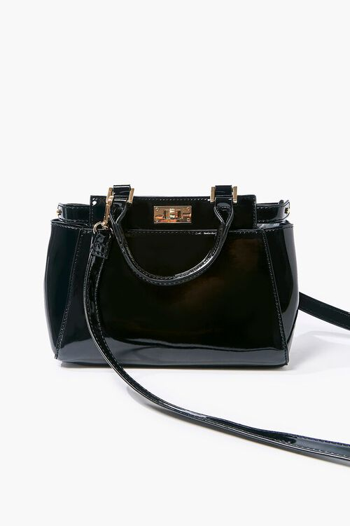 Faux Patent Leather Crossbody Bag, image 4
