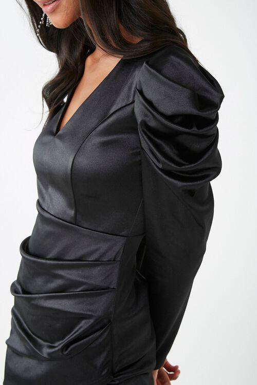 Satin Ruched Mini Dress, image 5