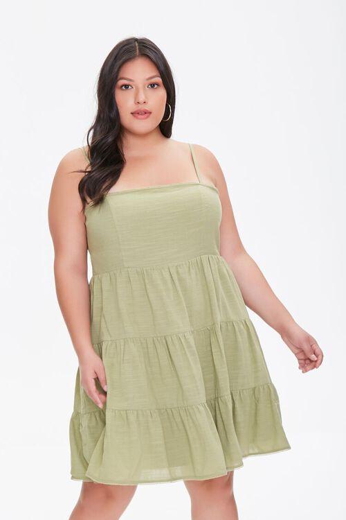 SAGE Plus Size Tiered Cami Dress, image 1