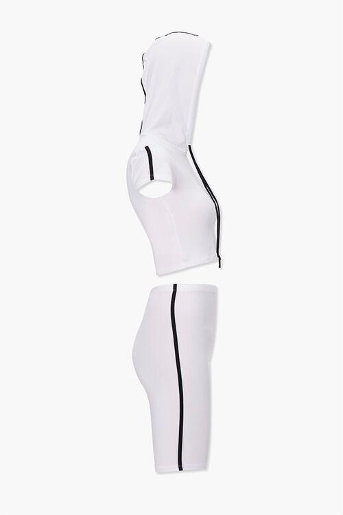 Side-Striped Hoodie & Shorts Set, image 2