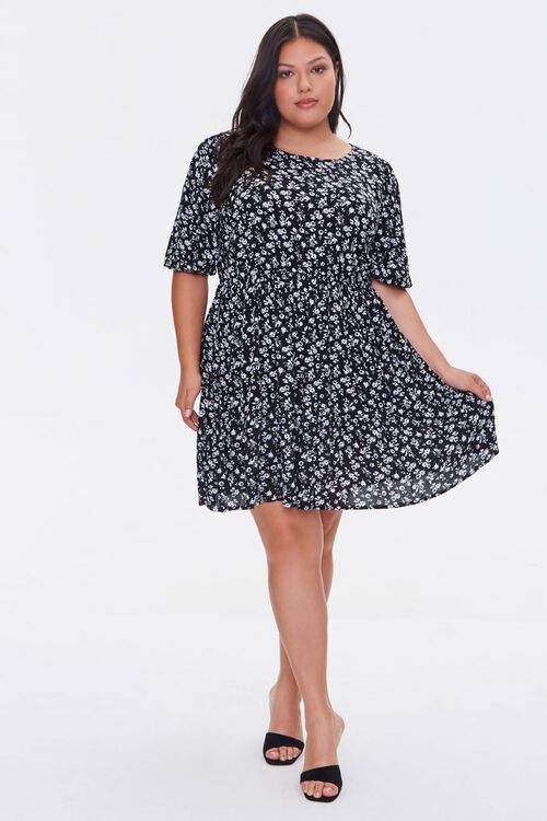 Plus Size Floral Print Dress, image 4