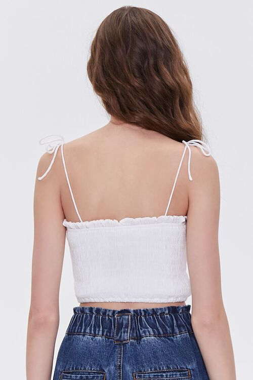 Smocked Self-Tie Cropped Cami, image 3