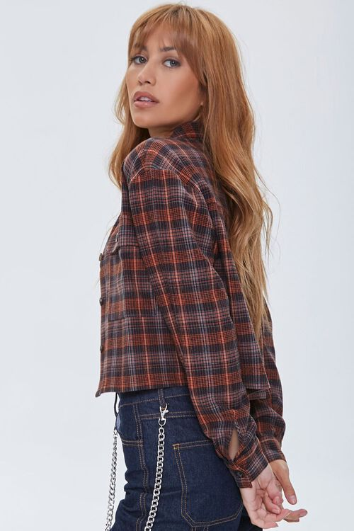 Plaid Button-Front Shirt, image 2