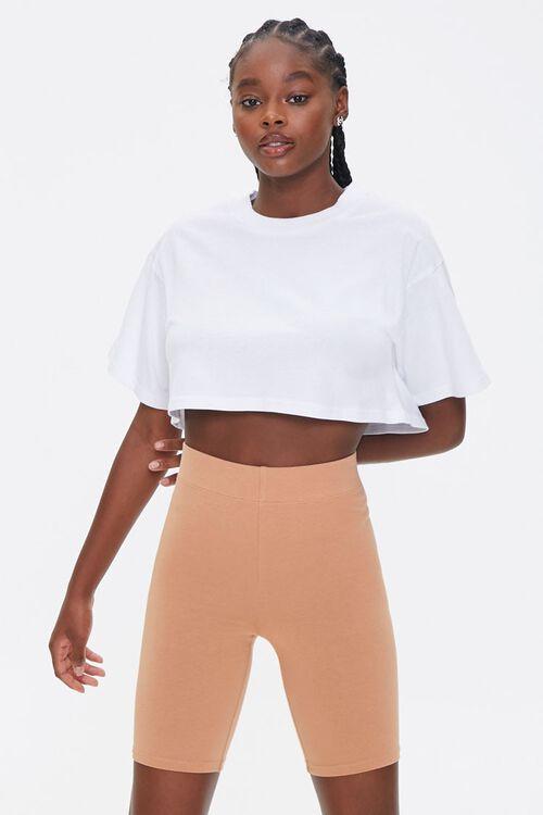 CAMEL Basic Cotton-Blend Biker Shorts, image 1