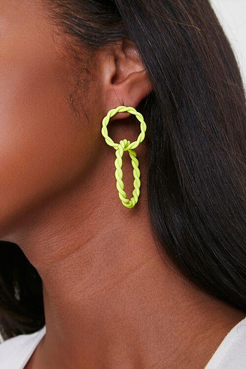 Interlinked Hoop Drop Earrings, image 1