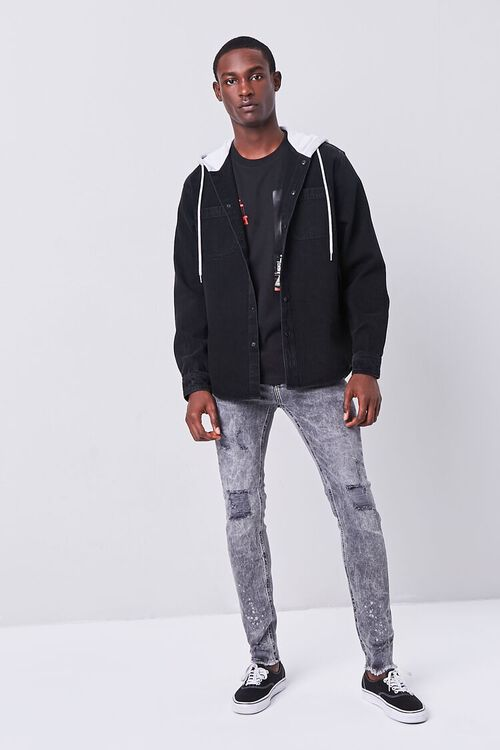 Hooded Denim Jacket, image 4