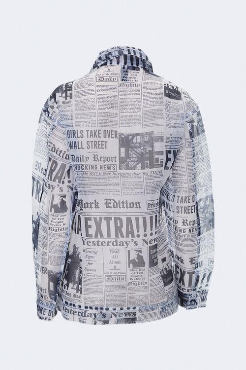Sheer Newspaper Print Jacket, image 2