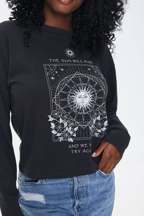 Floral Sun Graphic Top, image 1
