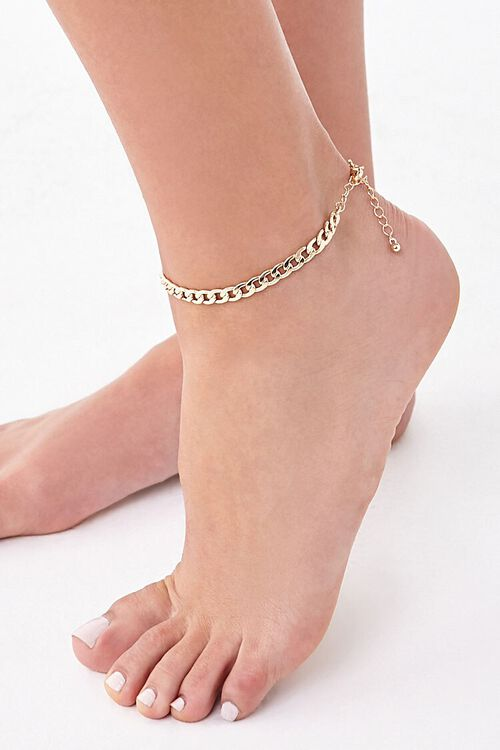 Chunky Curb Chain Anklet, image 1