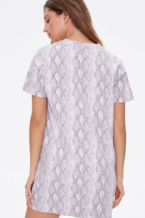 Snake Print T-Shirt Dress, image 3
