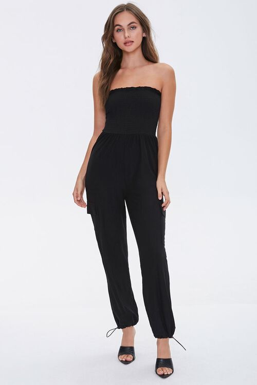 Strapless Smocked Jumpsuit, image 4