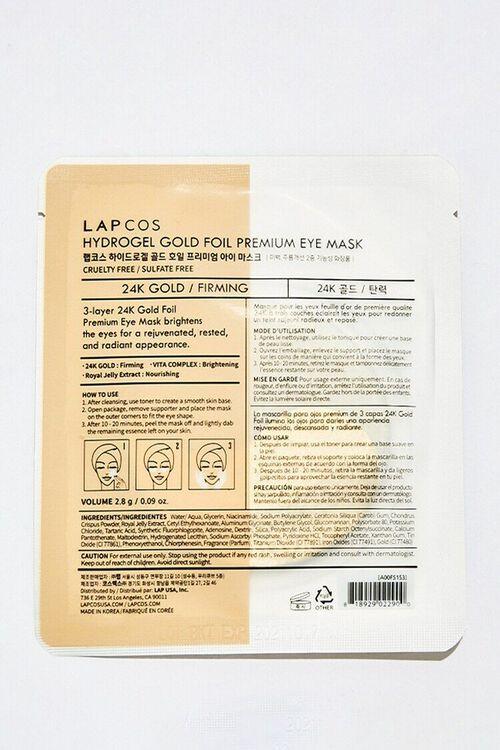BLACK Lapcos 24K Gold Foil Hydrogel Eye Mask, image 2
