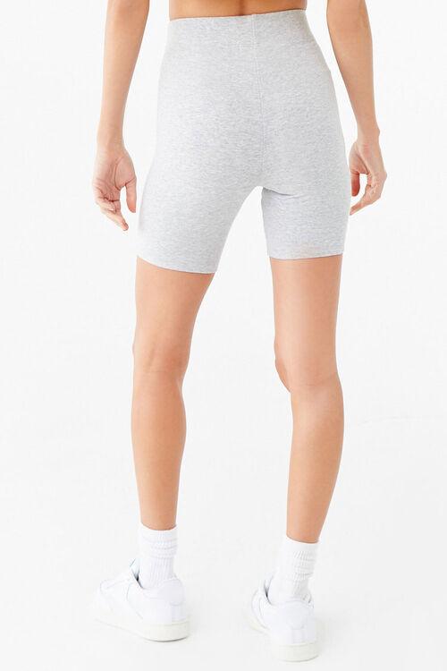 HEATHER GREY/WHITE Striped Biker Shorts, image 4