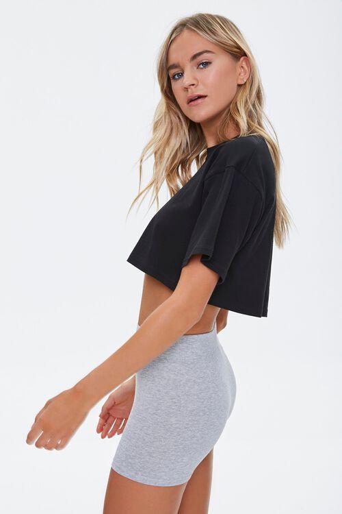 Basic Cotton-Blend Bike Shorts, image 2