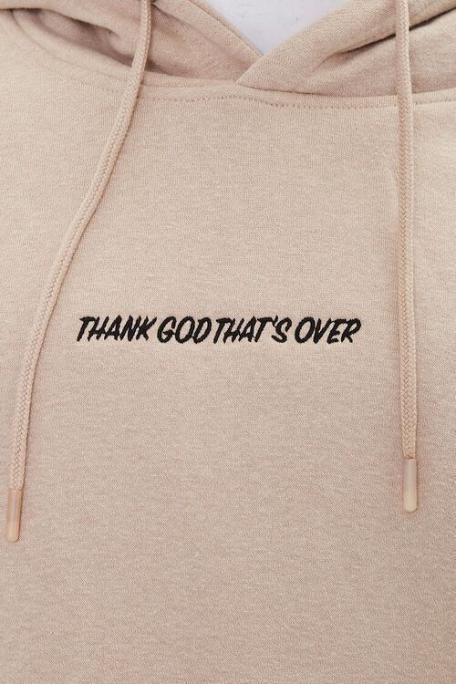 Thank God Embroidered Graphic Hoodie, image 5