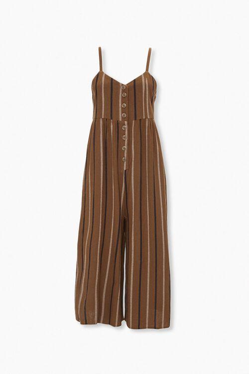 Striped Culotte Jumpsuit, image 1