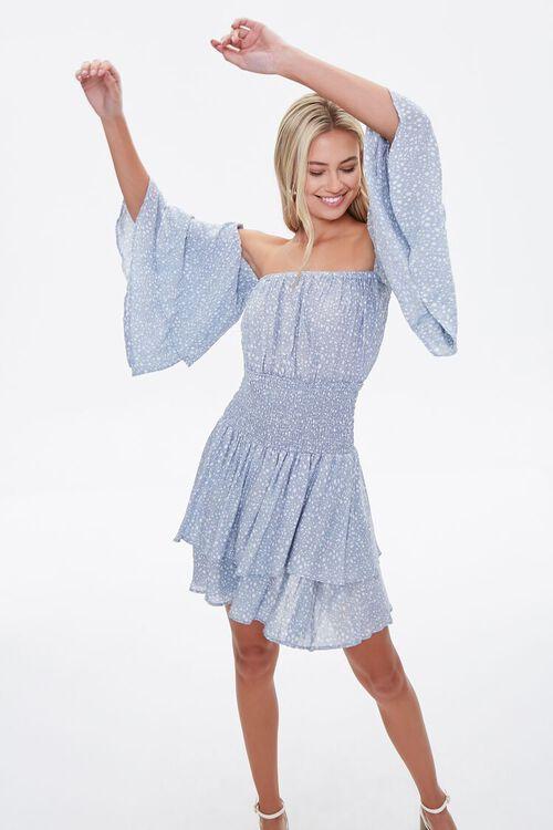 Spotted Off-the-Shoulder Dress, image 1